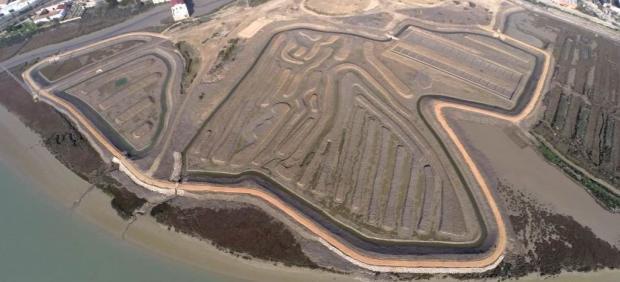 Imagen aérea de la Salina de San José