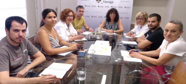 El equipo de gobierno de Tàrrega (Lleida)