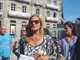 La presidenta de la Diputación de Pontevedra, Carmela Silva, durante un acto en el centro de Vigo.