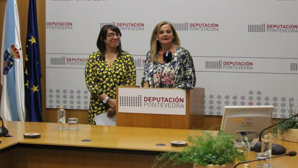 Rueda de prensa de la presidenta de la Diputación de Pontevedra, Carmela Silva.