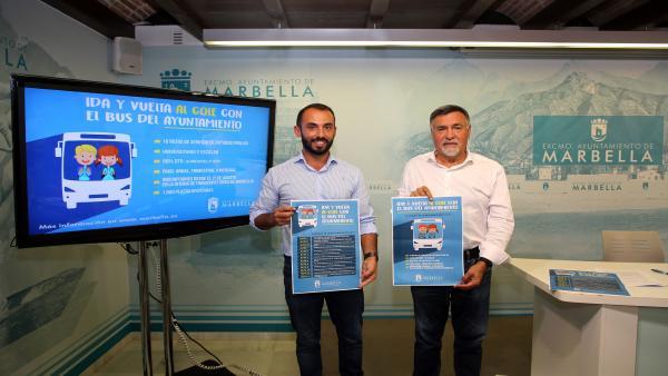 Presentacion servicio de autobuses escolares y universitarios en Marbella