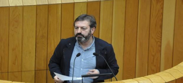 Luis Bará, en el Parlamento de Galicia.