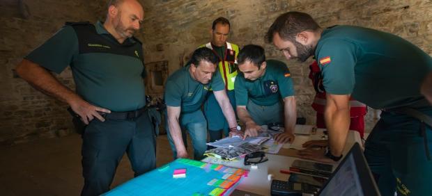 Dispositivo de búsqueda del hombre de 71 años desparecido el 3 de agosto en el Pirineo oscense.