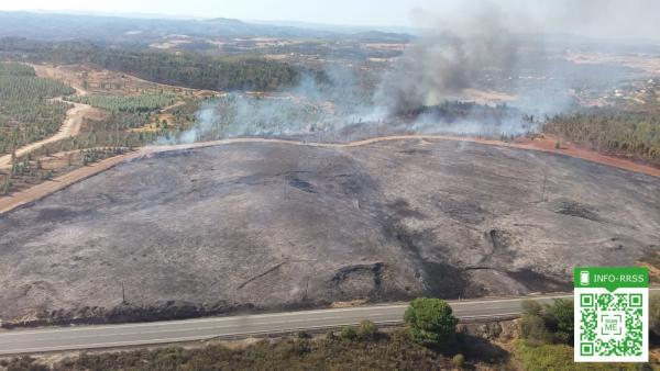 Incendio en Valverde del Camino.