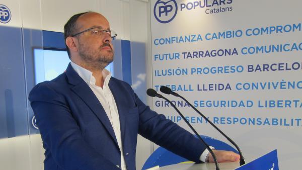 El president del PP de Catalunya, Alejandro Fernández.