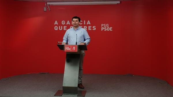 Gonzalo Caballero durante la rueda de prensa.