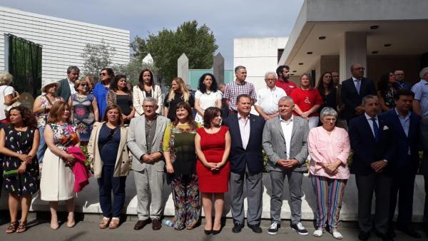 La vicesecretaria del PSOE, Adriana Lastra, en el acto del Día de Europa en la Fidma