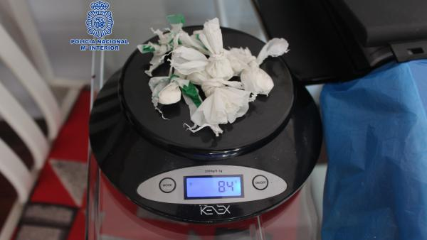 Droga incautada en la operación de Policía Nacional