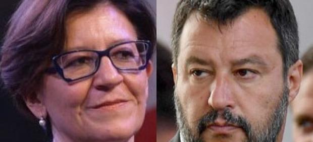 Elisabetta Trenta y Matteo Salvini