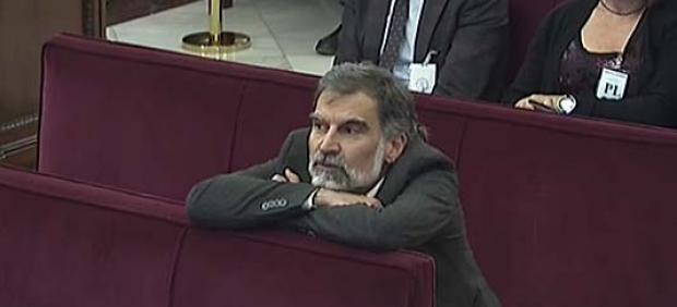 Jordi Cuixart durante una sesión del juicio al procés en el Supremo. ARCHIVO