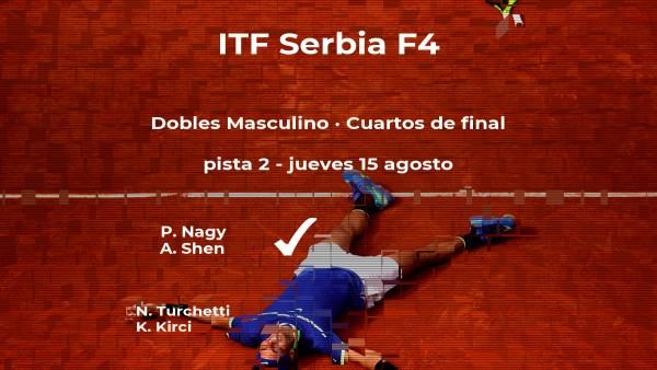 Los tenistas Nagy y Shen vencen en los cuartos de final del torneo de Novi Sad