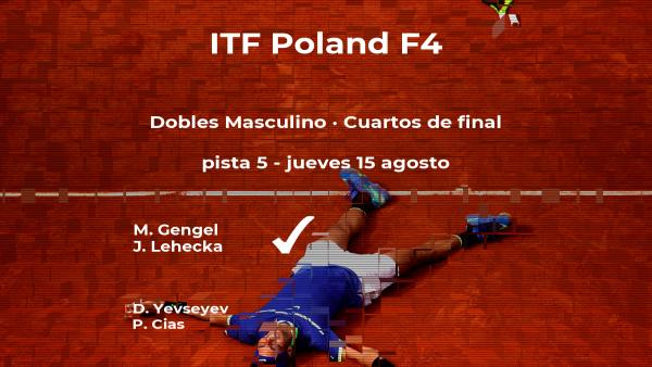 Los tenistas Yevseyev y Cias se quedan fuera de las semifinales del torneo de Bydgoszcz