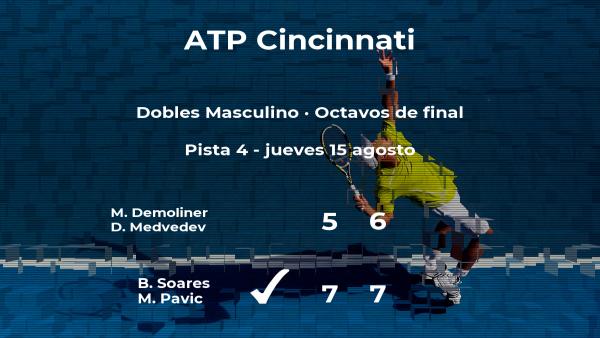 Soares y Pavic pasan a la siguiente fase del torneo ATP 1000 de Cincinnati tras vencer en los octavos de final