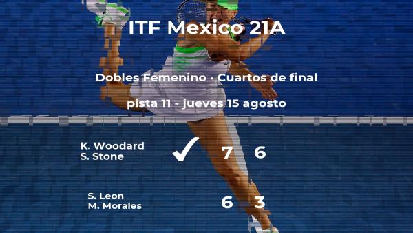 Woodard y Stone rompen los pronósticos al ganar en los cuartos de final del torneo de Cancún