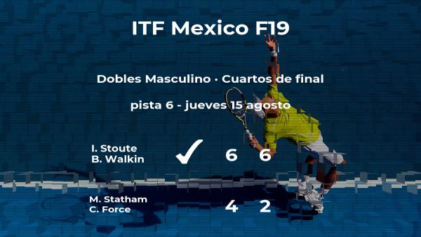 Stoute y Walkin consiguen su plaza en las semifinales del torneo de Cancún