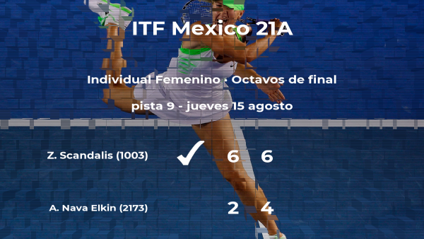 Zoe Gwen Scandalis estará en los cuartos de final del torneo de Cancún