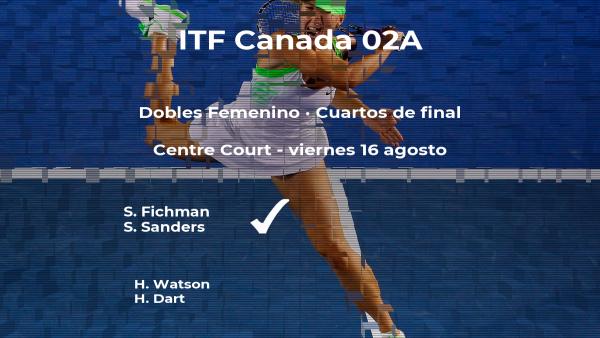 Watson y Dart se despiden del torneo ITF Canada 02A