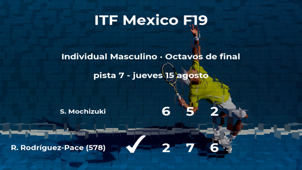 Ricardo Rodríguez-Pace estará en los cuartos de final del torneo de Cancún