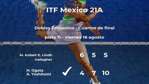 Las tenistas Ogata y Yoshitomi estarán en las semifinales del torneo de Cancún
