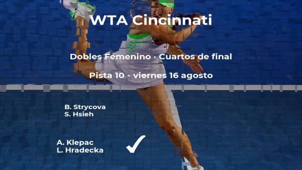 Strycova y Hsieh quedan eliminadas en los cuartos de final del torneo WTA Premier de Cincinnati