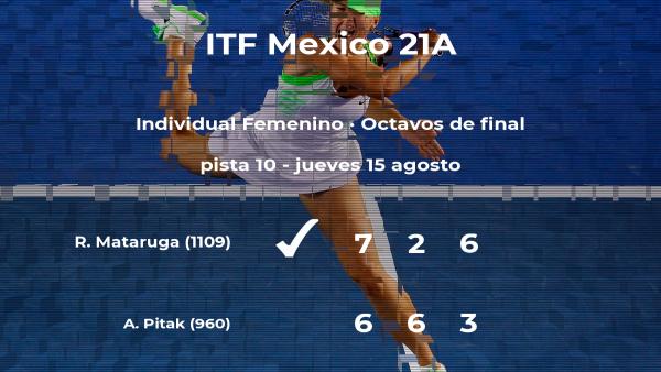 Ramona Mataruga estará en los cuartos de final del torneo de Cancún