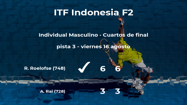 El tenista Ruan Roelofse consigue clasificarse para las semifinales del torneo de Yakarta
