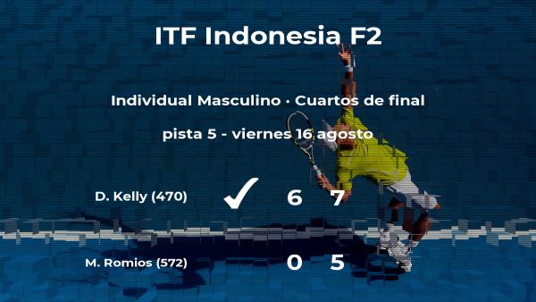 El tenista Dayne Kelly consigue el puesto de las semifinales a costa de Matthew Christopher Romios