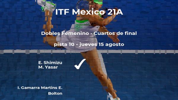Shimizu y Yasar logran clasificarse para las semifinales del torneo de Cancún