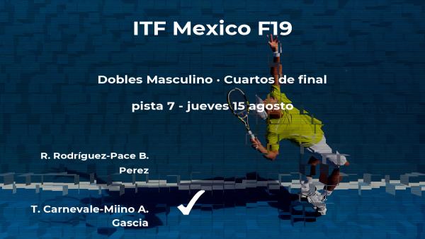 Inesperada derrota de Rodríguez-Pace y Perez en los cuartos de final del torneo de Cancún