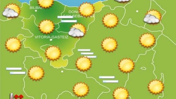 Previsiones para el 16 de agosto en Euskadi.