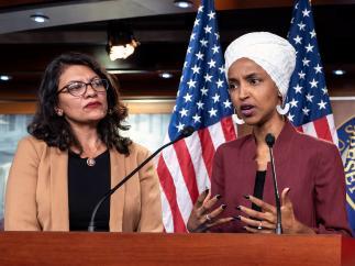 Las congresistas estadounidenses Ilhan Omar y Rashida Tlaib