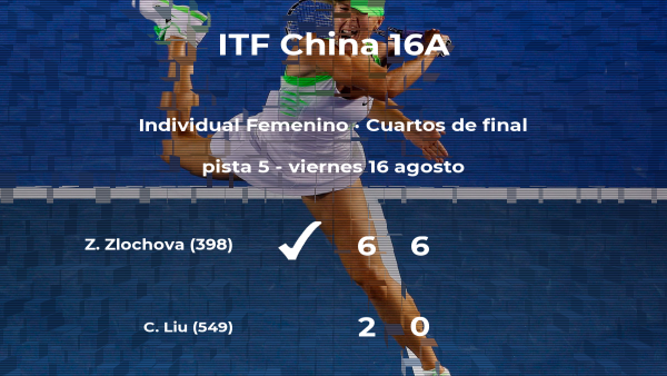 La tenista Zuzana Zlochova se clasifica para las semifinales del torneo de Huangshan