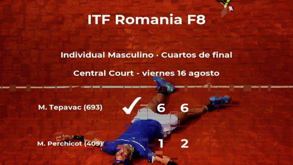 Marko Tepavac le quita el puesto de las semifinales al tenista Mathieu Perchicot