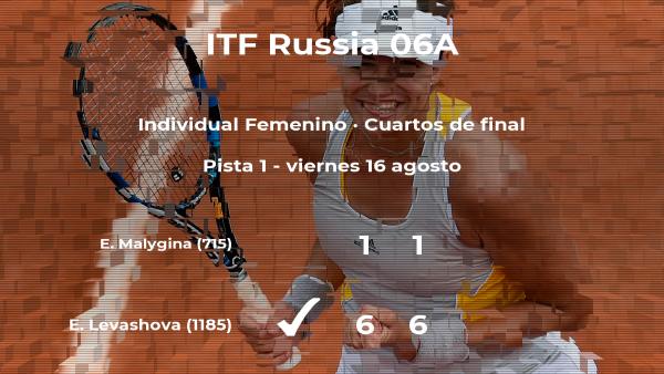 Evgeniya Levashova consigue clasificarse para las semifinales del torneo de Moscú