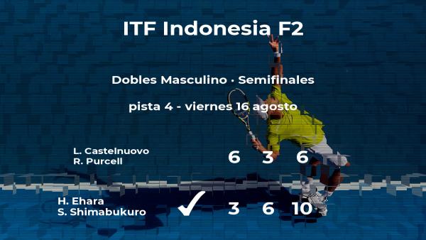 Los tenistas Ehara y Shimabukuro pasan a la final del torneo de Yakarta