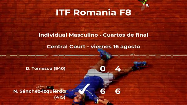 Nikolás Sánchez-Izquierdo pasa a la próxima ronda del torneo de Pitesti tras vencer en los cuartos de final