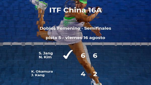 Las tenistas Jang y Kim se imponen en las semifinales del torneo de Huangshan