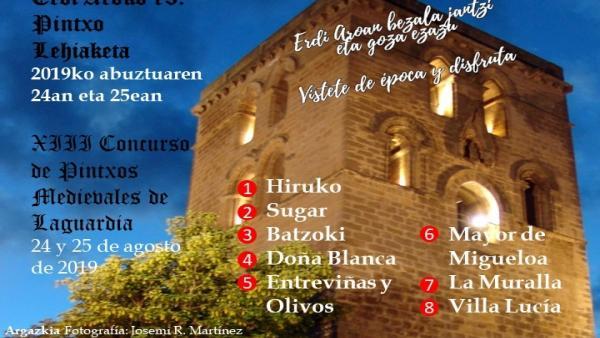 Ocho establecimientos participarán en el 'Concurso de Pintxos Medievales' de Laguardia (Álava).
