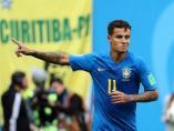 Philippe Coutinho, en un partido con Brasil