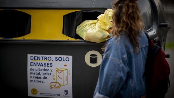 Contenedor, basura, reciclar