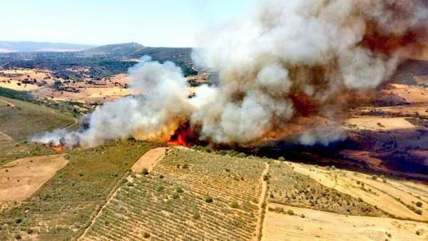Imagen del incendio en Serrradilla del Arroyo.