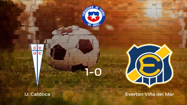 El U. Católica logra los tres puntos ante el Everton Viña del Mar (1-0)
