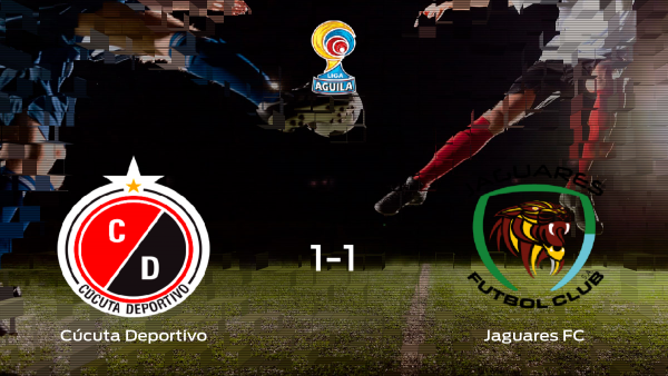 Reparto de puntos entre el Cúcuta Deportivo y el Jaguares FC: 1-1