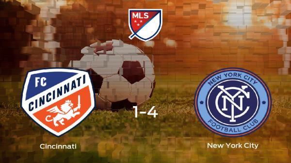 El New York City se lleva la victoria tras golear 1-4 al Cincinnati