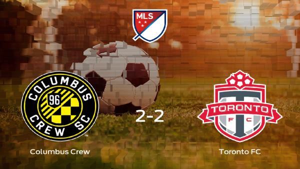 El Columbus Crew y el Toronto FC firman las tablas tras empatar 2-2