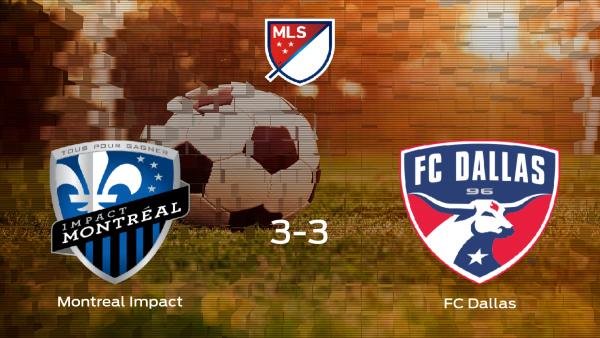 El Montreal Impact y el FC Dallas consiguen un punto tras empatar a 3