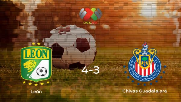 Triunfo 4-3 del León frente al Chivas Guadalajara