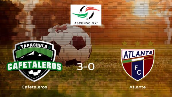 Sólido triunfo para el equipo local: Cafetaleros de Tapachula 3-0 Atlante FC