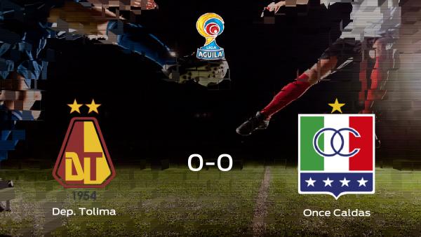 El Deportes Tolima y el Once Caldas empatan a 0 en el Manuel Murillo Toro