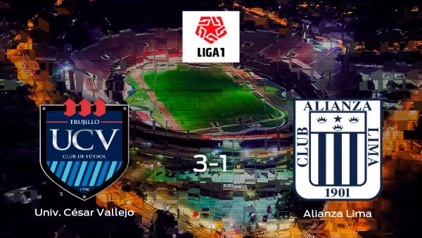 El Universidad César Vallejo gana 3-1 al Alianza Lima y se lleva los tres puntos